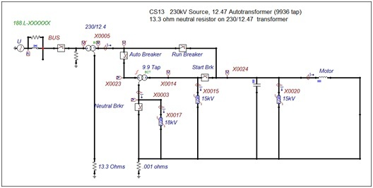 Ac and transient analysis of arrester behavior for Motor circuit analysis training